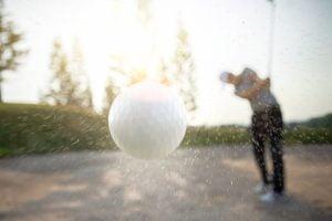 Golfer Swing 3D Ball